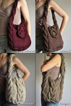 Items similar to Texture cable shoulder bag hand knit hobo designer crossbody messenger school bag - Soul of a Vagabond in wheat cream or CHOOSE YOUR COLOR on EtsyTextura kabel taška přes rameno ruka plést tulák by EveldasNeverlandchunky sweater Crochet Capas, Knit Crochet, Crochet Pattern, Hand Knitting, Knitting Patterns, Cable Knitting, Designer Shoulder Bags, Knitted Bags, Knit Bag