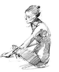 6B pencil on Stillman & Birn Alpha Series sketchbook. 4 minute pose.    http://drawingthemotmot.files.wordpress.com/2013/02/sara1.jpg