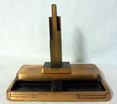 nice Art Deco Sears Tower Bank & Trust Desk Pen Holder Caddie   Check more at http://harmonisproduction.com/art-deco-sears-tower-bank-trust-desk-pen-holder-caddie/