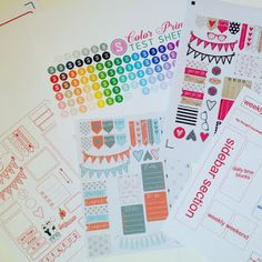 How to make your own planner stickers with Silhouette CAMEO...includes free templates and sticker sets.