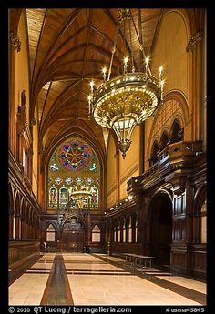 Inside Memorial Hall, Harvard University, Cambridge. Boston, Massachussets, USA (color)