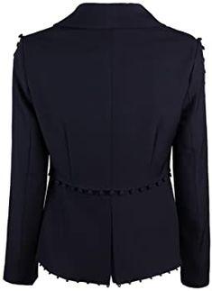 Amazon.com: UONBOX Women's Cut Out 2 Pieces Slim Fit Blazer Jacket Pants Suit Set (XS, Black2): Clothing Black And White Suit, Blazer Jacket, High Neck Dress, Slim, Amazon, Blouse, Clothing, Pants, Jackets