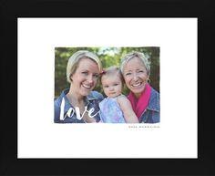 Love Script Overlay Framed Print, Black, Contemporary, White, White, Single piece, 8 x 10 inches, White