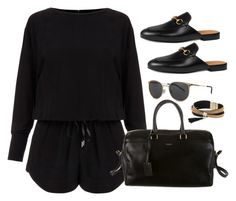 """""""Untitled #2934"""" by theaverageauburn ❤ liked on Polyvore featuring Helmut Lang, Yves Saint Laurent, Gucci and Simons"""