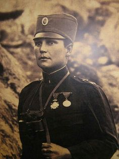 Serbian female soldier ww1, Milunka Savic - pin by Paolo Marzioli
