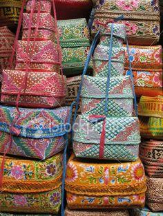 Balinese Baskets 2 Royalty Free Stock Photo