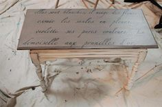stenciled table - Fabulously Finished.