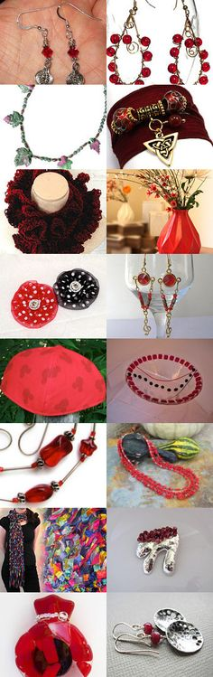 Red is for Ruby the July Birthstone 2014 by Gail on Etsy--Pinned with TreasuryPin.com