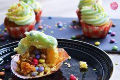 Närrische Konfetti-Cupcakes mit Überraschung | SchokoladenFee