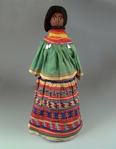 Seminole female doll, ca 1930s, from the National Museum of the American Indian