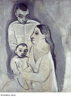 Homme, femme et enfant (Pablo Picasso, 1906)