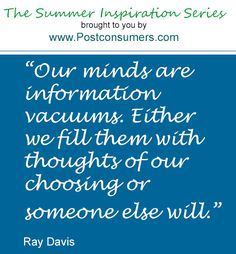 Summer Inspiration Quote: Thoughts of Your Choosing