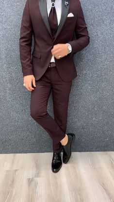 men's suits – High Fashion For Men Mens Casual Suits, Dress Suits For Men, Formal Dresses For Men, Stylish Mens Outfits, Mens Fashion Suits, Groom Fashion, Formal Suits, Suit And Tie, Slim Fit Tuxedo