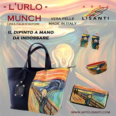 L'Urlo di Munch www.artelisanti.com - Painted black bag