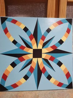 Barn Quilt Designs, Barn Quilt Patterns, Pattern Blocks, Quilting Stencils, Quilting Ideas, Quilting Designs, Painted Barn Quilts, Arts And Crafts, Paper Crafts