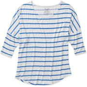 Faded Glory Women's Knit Dolman Top in Black and white, $9