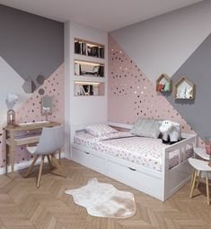 43 cute and girly bedroom decorating tips for girl 14 Bedroom Decoration girls bedroom decor ideas Girl Bedroom Walls, Girl Bedroom Designs, White Bedroom, Bedroom Furniture, Furniture Layout, Girls Bedroom Colors, Pink Bedrooms, Ikea Bedroom, Wood Bedroom