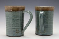Mugs by FireRobin Pottery. American Made. See the designer's work at the 2016 American Made Show, Washington DC. January 15-17, 2016. americanmadeshow.com #mugs, #pottery, #ceramic, #americanmade, #americanmadeshow