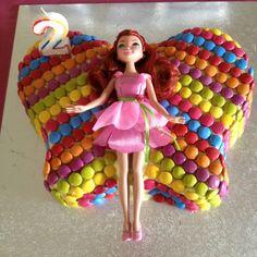 Rhianna's 2nd rainbow fairy birthday cake.