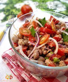 Insalata di fagioli fresca e gustosa http://blog.giallozafferano.it/graficareincucina/insalata-di-fagioli-fresca-e-gustosa/