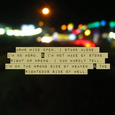 Five Finger Death Punch Lyrics - Wrong Side Of Heaven.   Some of my favorite lyrics ever, truly an awesome band <3