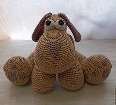 Купить Собака вязаная - комбинированный, собака, собачка, собаки, собака игрушка, вязание на заказ