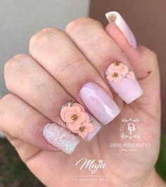 Glam Nails, Fancy Nails, 3d Nails, Acrylic Nails, Square Nail Designs, Nail Art Designs, Halloween Nail Designs, Toe Nail Art, Nail Decorations