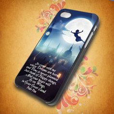 Peter Pan Quote for iphone 5,iphone 4, samsung galaxy s2 I9100,s3 I9300,s4 I9500 on Etsy, $15.00