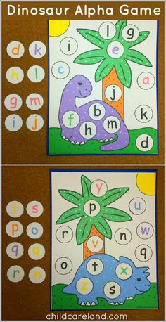 This week's free printable is Dinosaur Alphabet File Folder Game which is a great activity for letter recognition and review. Available until Sunday August 24th ... after that it will be available in the member's section of the site.