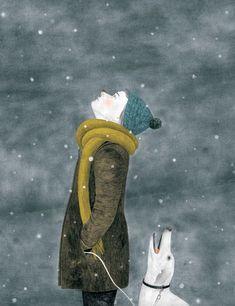 E se invece i fiocchi di neve lo facessero apposta a cadere dal cielo, per baciarci la punta del naso?  Tanya bi  Ill.ne Evelyne Laube & Nina Wehrle