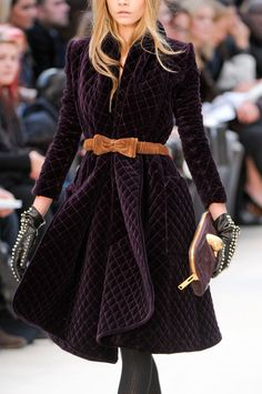 Fabulous #quilted Burberry! I love high fashion inspiration!
