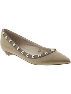 Studded nude flats only $49.00 at Piperlime! These are definitely fun, and can add a little spice to a professional outfit, or switch an outfit from day to night.