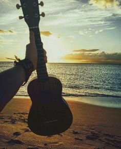 Ukuleles and beaches