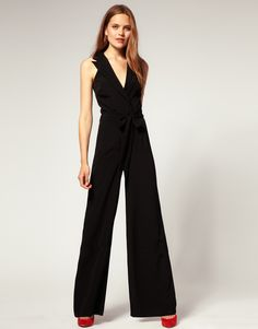 ASOS Tuxedo Jumpsuit With Cut Out Back, $44.93 on sale.