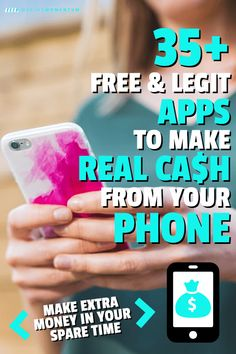 Want to make extra money from your smartphone in There are some GREAT and EASY ways to make money and reach your financial goals. Check out these 35 apps to help you make money from your phone in Earn Money From Home, Make Money Fast, Earn Money Online, Ways To Save Money, Money Tips, Money Saving Tips, Best Money Making Apps, Make Money Blogging, Managing Money