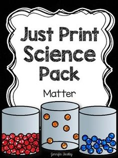 Matter Science Resources: Includes passages, questions, printables, and an assessment.