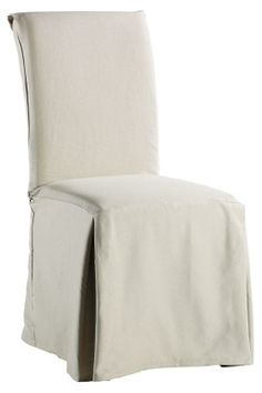 Long Twill Slipcovers To Flank A Large Farmhouse Style Table. Iu0027m Actually  Ordering These Myself