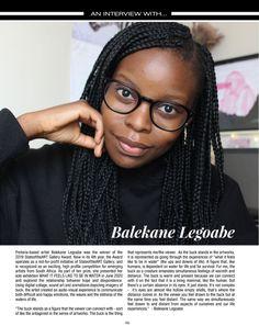 Balekane Legoabe in South African Artist Magazine