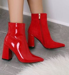 Fancy Shoes, Pretty Shoes, Beautiful Shoes, Cute Shoes, High Heel Boots, Shoes Heels Boots, Heeled Boots, High Heels, Red Heel Boots