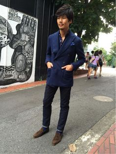 【画像まとめ】おしゃれすぎるビームスF西口修平コーディネート Navy Jacket, Suit Jacket, Business Fashion, Business Style, Men's Fashion, Fashion Outfits, Just For Men, Cotton Blazer, Modern Man