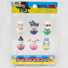 RARE Dragon Ball Z Korokoro Mascot 6pc Set Gokou Krillin Kame-sennin JAPAN ANIME