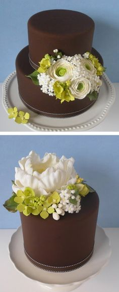 wedding cake by petalsweet - not my colors but looks great!