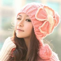 Korean version adult Female Woolen Winter spring fall (red) Knitted hat-YTQF0160