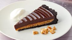 Make Martha Stewart's Peanut Butter Cup Tart from the Impressive Chocolate Desserts episode of Martha Bakes. Peanut Butter Cups, Peanut Butter Filling, Peanut Butter Recipes, Chocolate Peanut Butter Tart Recipe, Chocolate Graham Crackers, Chocolate Wafers, Chocolate Desserts, Chocolate Ganache, Chocolate Cookies