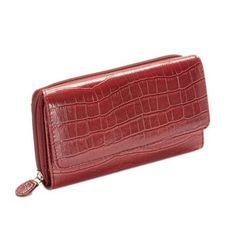 Mundi Red Croc My Big Fat Wallet Organizer w/ calc