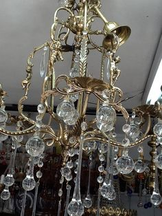 Image detail for -Beautiful Antique Capodimonte Chandelier for ...