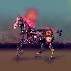 """Tableau numérique Moderne """"South"""" par Robert Palmer"""