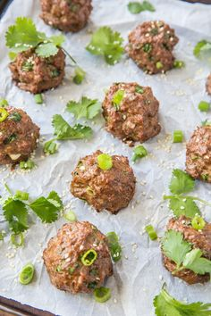 These Thai meatballs are HUGE on flavor and make for an amazing clean main entree. Keto, paleo, and just plain finger-lickin' good, these meatballs are show-stopping delicious. Paleo Dinner, Dinner Recipes, Pork Recipes, Healthy Recipes, Cajun Recipes, Recipes With Fish Sauce, Whole30 Recipes, Recipies, Clean And Delicious