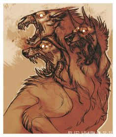 Cerberus - A guardian hound of the Greek Underworld and a faithful servant of Hades. Said to snarl and attack anyone foolish enough to try and escape the Underworld