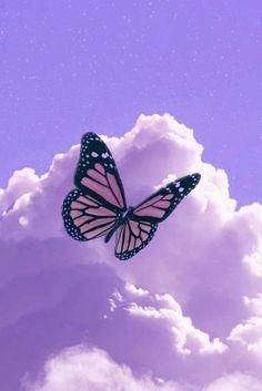 Purple Butterfly Wallpaper, Purple Wallpaper Iphone, Cloud Wallpaper, Cartoon Wallpaper Iphone, Iphone Background Wallpaper, Disney Wallpaper, Galaxy Wallpaper, Wallpaper Quotes, Butterfly Background